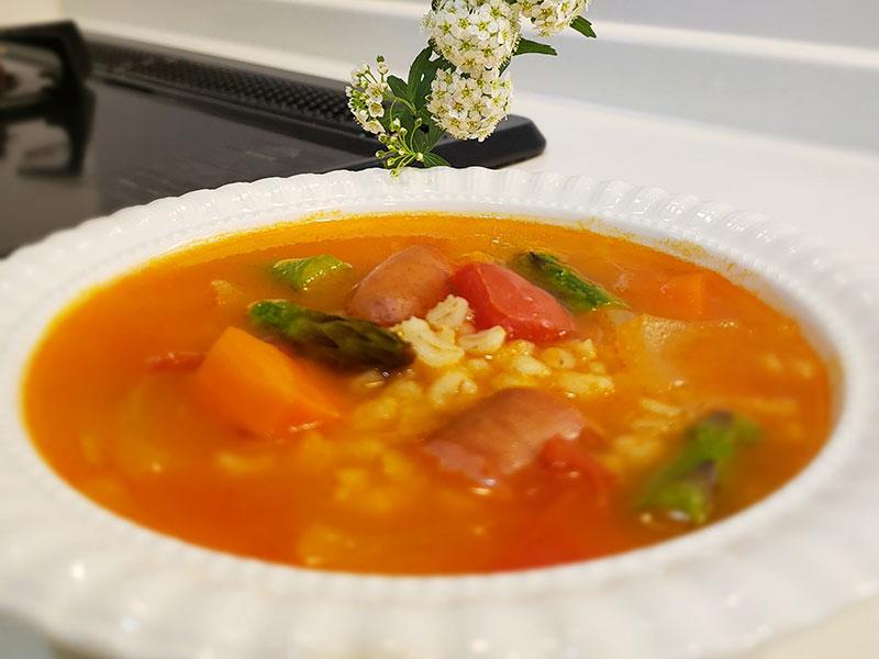 Đại mạch nấu soup rau thơm ngon