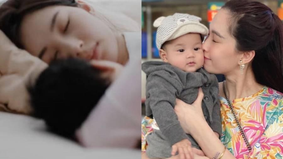 Nhan sắc xinh đẹp của các mỹ nhân Việt khi chăm con